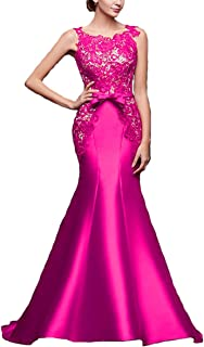 Fair Lady Women's Lace Mermaid Prom Dresses Long Formal Evening Party Gowns for Wedding