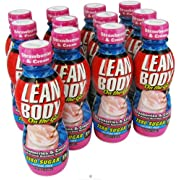 Labrada Lean Body On the Go Hi-Protein Nutrition Shake RTD Strawberries Cream 14 oz 12 pk