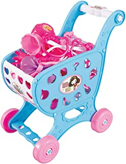 ショッピングカートの赤ちゃんのおもちゃスーパーマーケットの食品はあなたの子供の能力シミュレーションデザイン練習を組み立てるための設定シンプルで簡単にプレイふり,ブルー