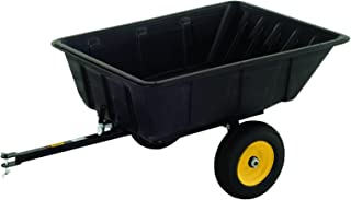 Polar Trailer 9542 LG10 Lawn and Garden Trailer, 69 x 37 x 28-Inch 900 Lbs Load Capacity 10 Cubic Feet with 13 Cubic Feet Heaping Tub Quick Release Tipper Latch Tilt-and-Swivel Dumping for Hauling and Utility, Black