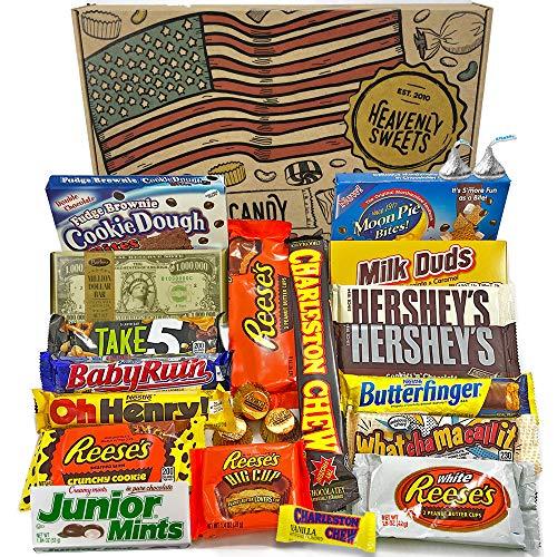 Großer Amerikanische Schokolade Geschenkkorb | Auswahl beinhaltet Reeses, Hershey, Butterfinger, Baby Ruth | 23 Produkte in einer tollen retro Geschenkebox | American Chocolate