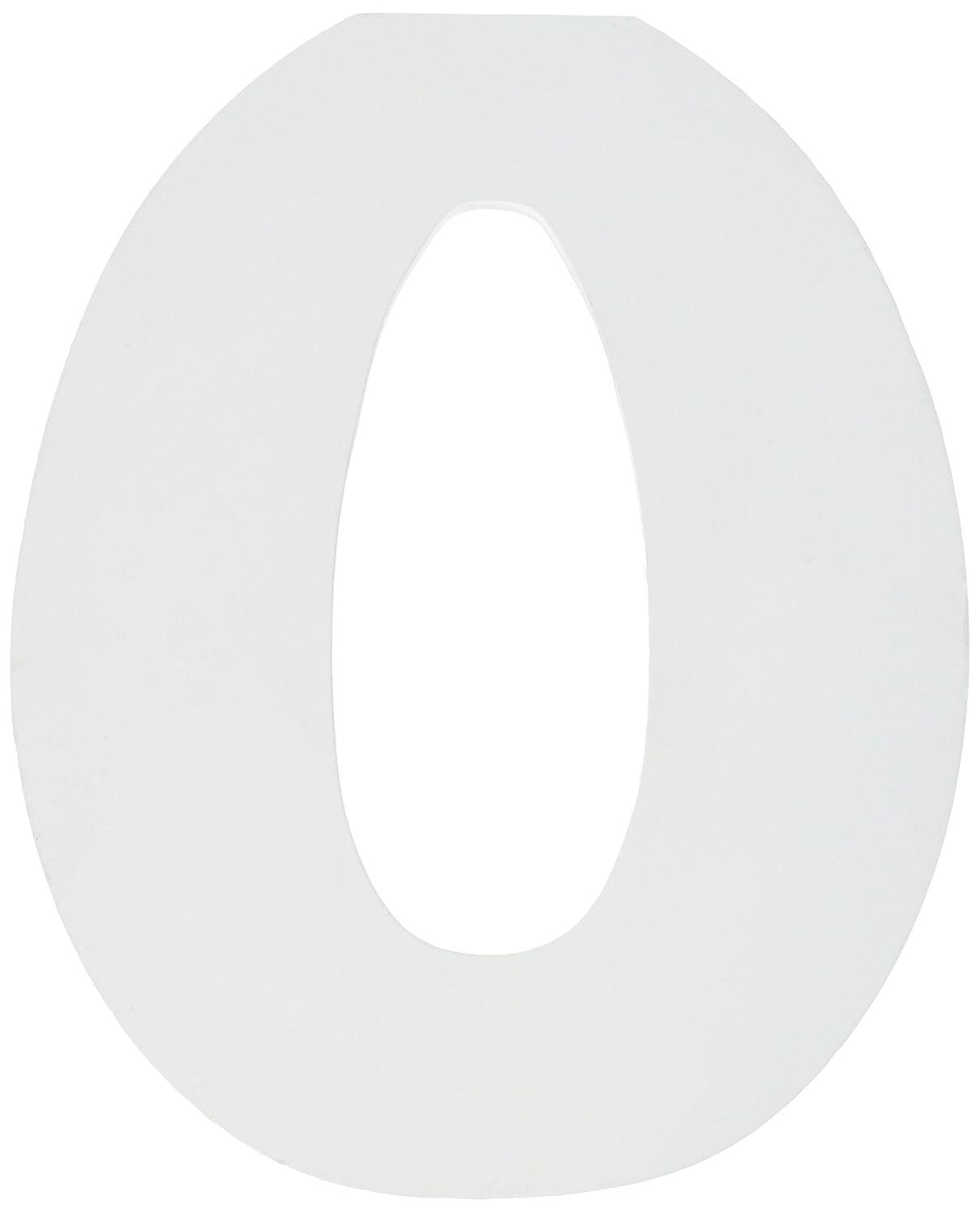 Darice U9182-0 Unfinished Wood Number 0, 6