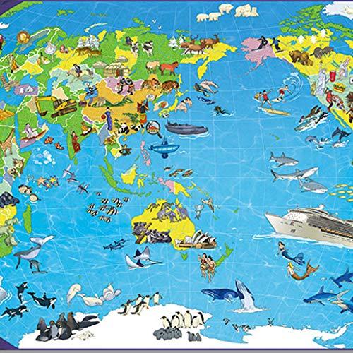 Adult Puzzle 1000 World Maps Jigsaw Trigger Juguetes Creativos De Descompresión para Completar Rompecabezas Juegos para Padres E Hijos