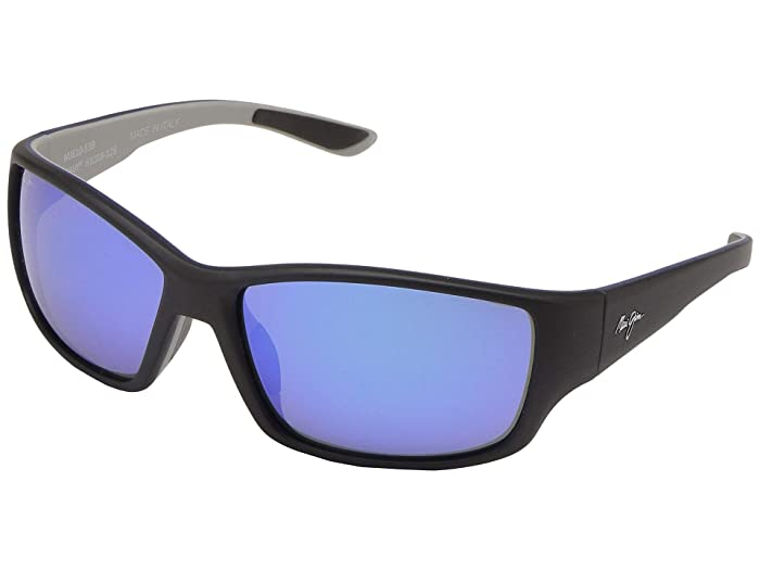 Maui Jim  Local Kine (Soft Black/Sea Blue/Grey/Blue Hawaii) Fashion Sunglasses