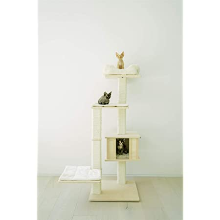 K H Pet Products Hangin Cat Condo Large Tan 23 X 16 X 65 Cat Furniture Cat Houses And Condos Pet Supplies