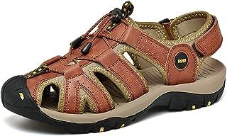 [Shoelike] メンズ サンダル スポーツ ファッションサンダル スポーツシューズ 牛革 ビジネス場合 通気性 軽量化 アウトドア 日常着用 散歩 水遊び 川遊び ジム 通勤 通学