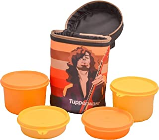TP-1025-T198 Tupperware Rocker Lunch With Smart Checkered Bag Separate your Cool and Warm Food In Separate Compartments