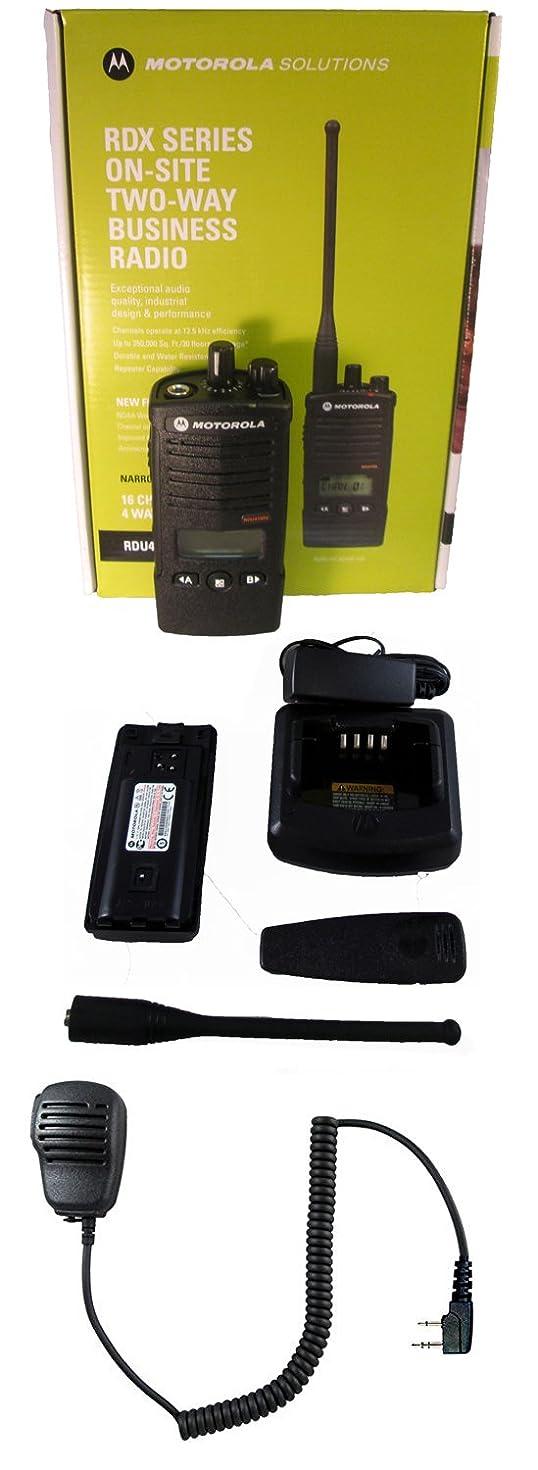 Motorola RDU4160D UHF 4 watt 16 channel radio and Speaker Microphone