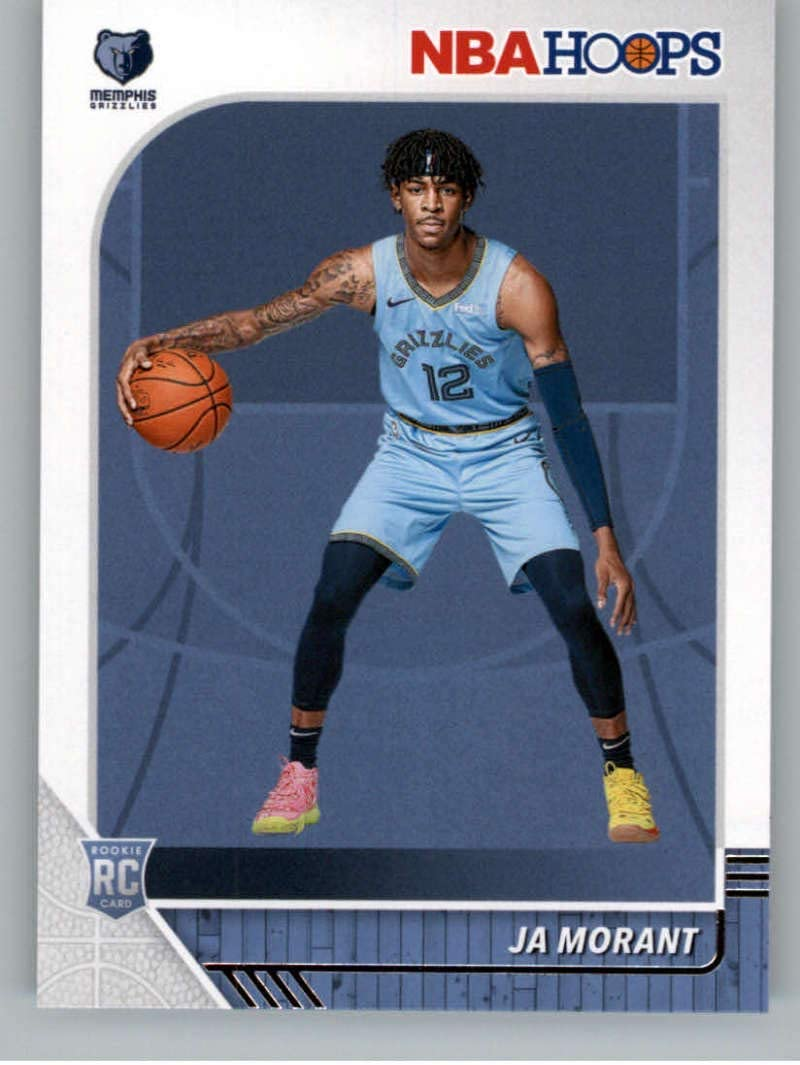 2019-20 NBA Same day shipping Hoops quality assurance Basketball #259 Grizzlies RC Ja Morant Memphis