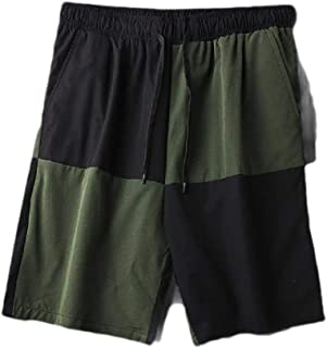 Mogogo Mens Patched Fashion Drawstring Pockets 100% Cotton Beach Swimsuit