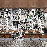 Papel Pintado De Anime Demon Slayer, Dormitorio, Estudio, Cabecera, Pared, Dormitorio Universitario, Papel Tapiz De Manga En Blanco Y Negro
