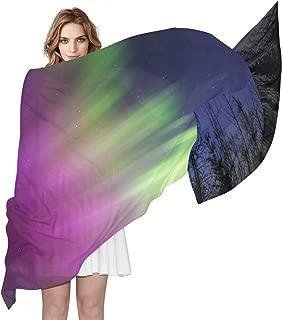 Colorful Galaxy Jellyfish Scarf for Women Soft Cozy Lightweight Scarf Shawl Wraps