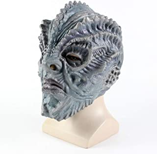 LUHUAISH AU Halloween Horror Mask Latex Fish Monster Man Latex Headpiece C Halloween Bar Party Headwear (Color : A)