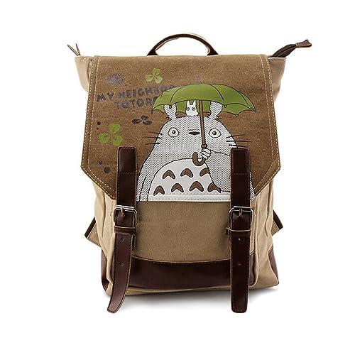 Japanese My Neighbor Totoro Student Book Bag Cosplay Cartoon Rucksack  Backpack For 14
