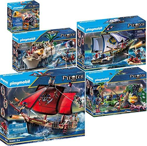 Playmobil® Pirates Set composé de: 70411 70412 70413 70414 70415