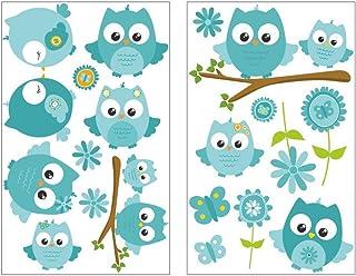 3d Sticker Autocollant embellischment ziersticker DECO Hiboux