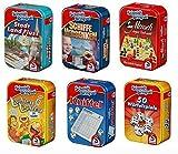 Schmidt 51055 Bundle sort Bringsel - 6 Verschiedene Mitbring-Spiele in Metallbox