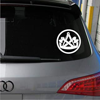 Pegatina Promotion Zunftzeichen Handwerker Zimmerer Mittelalter Symbol 20cm Aufkleber,Autoaufkleber,Wandtattoo,Sticker UV& Waschanlagenfest,Profi Qualität