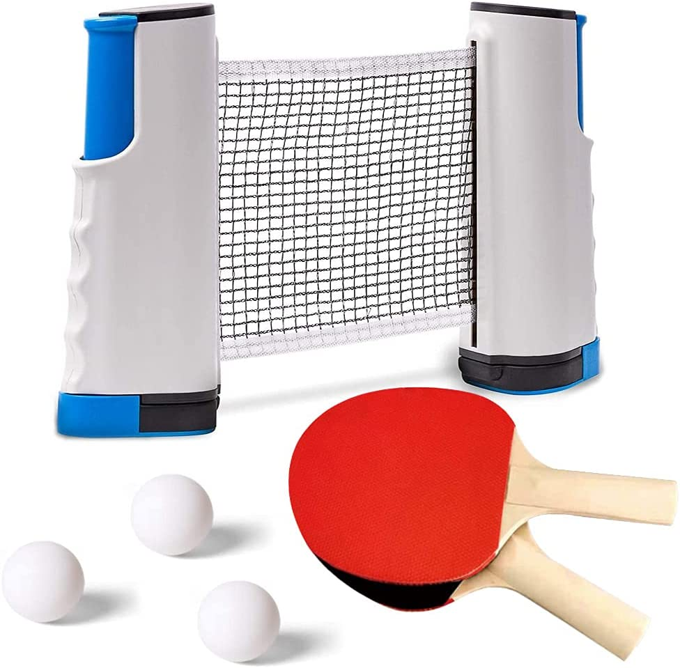 Ping Challenge the lowest price of Japan Pong Paddle Set Soldering w 1 Portable Net Tennis Retractable 2 Table