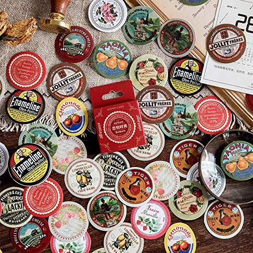 BLOUR Vintage Memories of Time Mini Pack met papieren stickers DIY dagboek decoratie album scrapbooking 45 stuks / doos