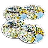 Pegatinas de vinilo (juego de 4) 10 cm – Frejus Town Francia – Pegatinas divertidas para ordenadores, tabletas, equipaje, reserva de chatarra, frigoríficos #45072