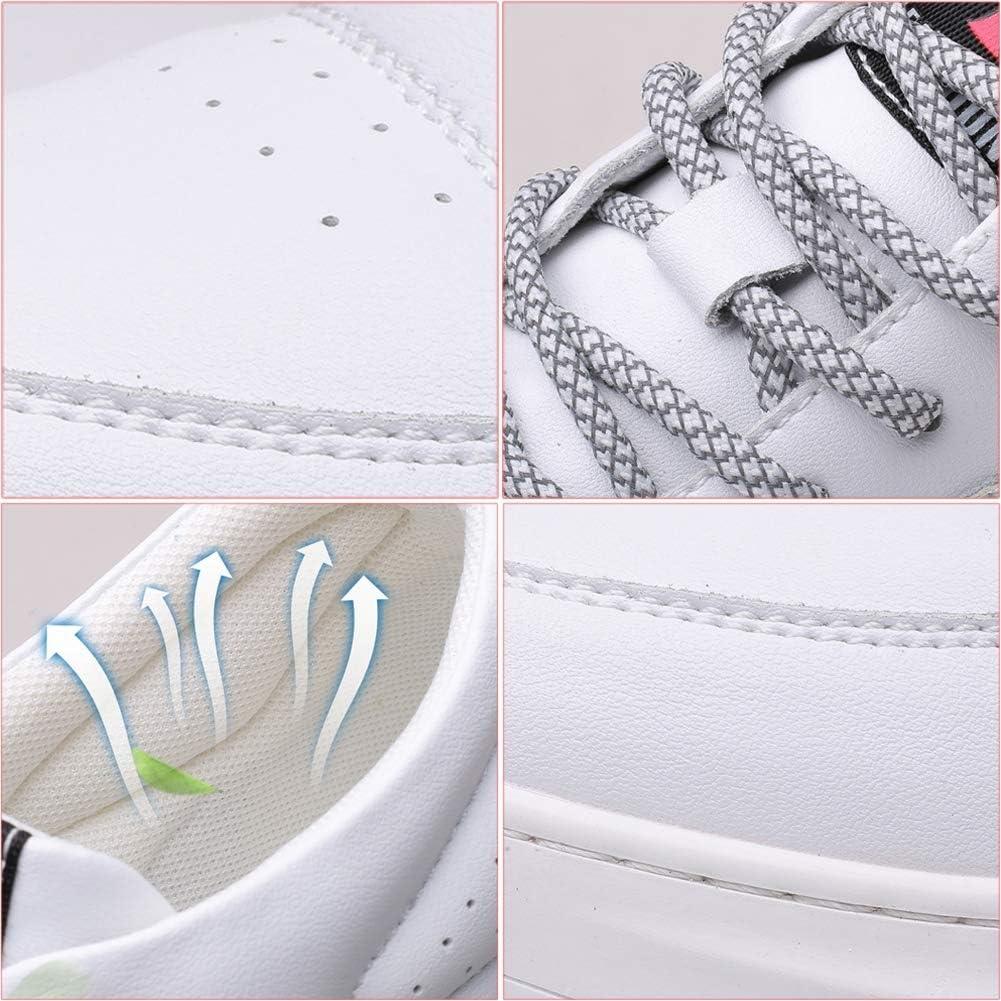 YQSHOES Eleganti Scarpe Casual Sportive Da Uomo, Scarpe Basse Stringate White