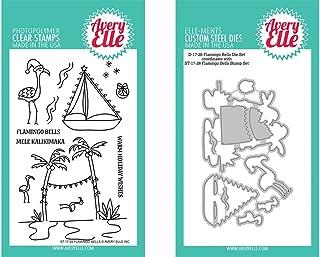 Avery Elle Clear Stamp & Die Set - Flamingo Bells ST1728 & D1728 (Kit)
