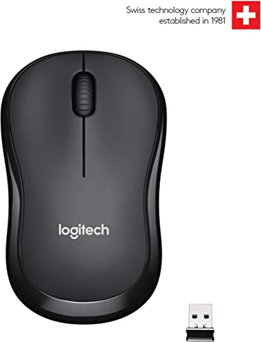 Logitech M221 Wireless Mouse, Silent Buttons, 2.4 GHz with USB Mini Receiver, 1000 DPI Optical Tracking, 18-Month Bat...