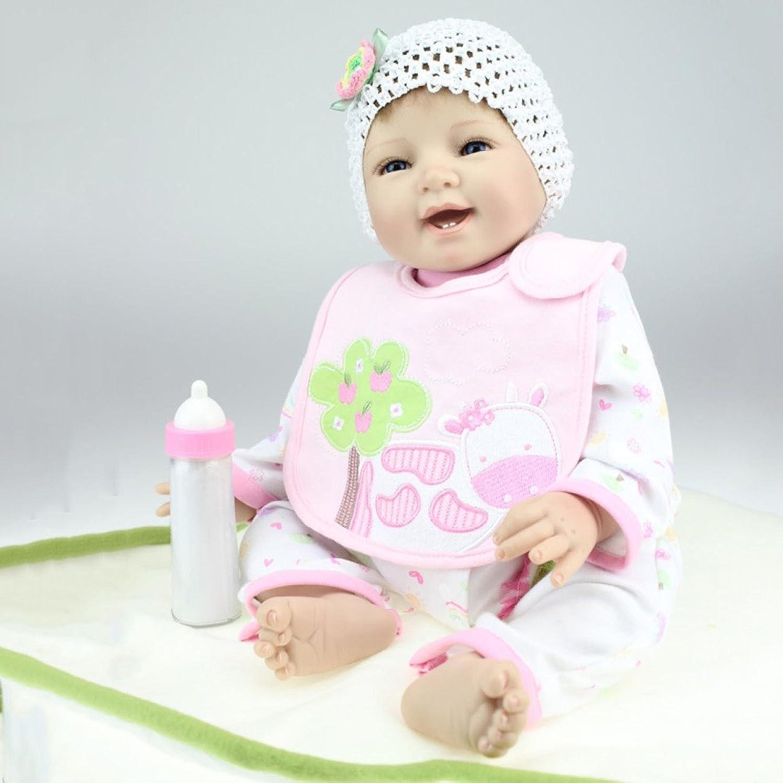 JHGFRT Reborn Baby Puppe Realistische Körper Weichen Silikon Neugeborenes Mädchen Puppe Kinder Spielzeug Geburtstagsgeschenk 55 cm,55cm B07FLXQG8L Moderne und elegante Mode    Spielen Sie auf der ganzen Welt und verhindern Sie, dass Ihre Kinder