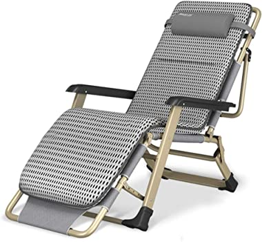 Oversize XL Reclining Chair Textoline Zero Gravity Chair, Folding & Reclining Sun Lounger Chair with Head Pillow Deck Chairs Cushion Replacement for Beach Patio Garden Camping Outdoor Loading up to