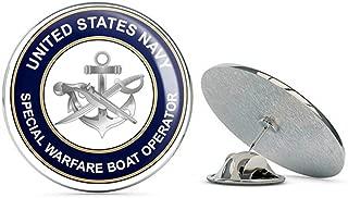 US Navy Special Warfare Boat Operator SB Military Veteran USA Pride Served Gift Metal 0.75