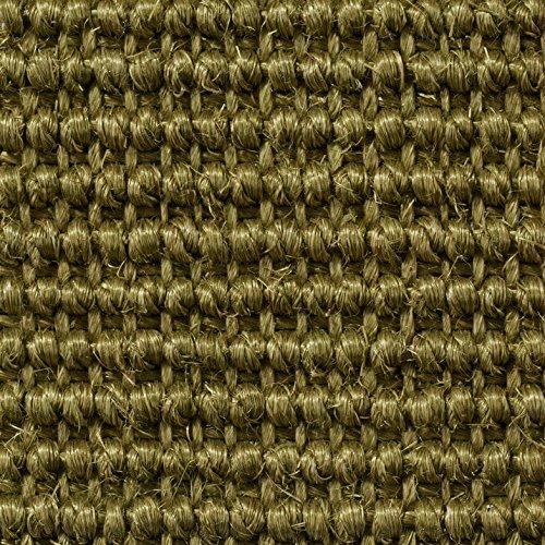 Teppichboden Auslegware | Sisal Naturfaser Schlinge | 400 cm Breite | grün | Meterware, verschiedene Größen | Größe: 4 x 4m