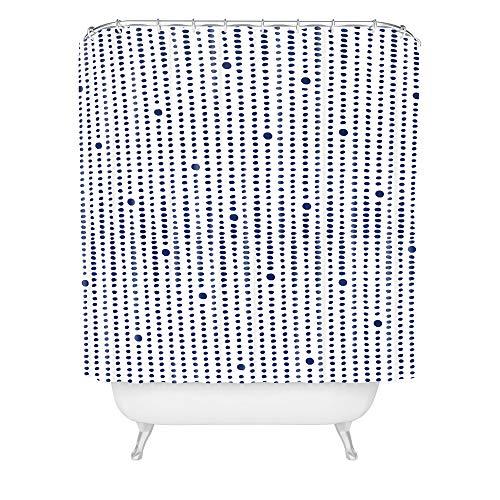Deny Designs Emmanuela Carratoni Duschvorhang im Japandi-Stil, 183 x 175 cm, Blau
