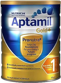 (跨境自营)(包税) Aptamil 新西兰爱他美 金装 婴儿奶粉 1段900g (0-6个月)