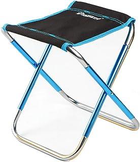 CATYAA アウトドアチェア 折りたたみ椅子 超軽量 耐荷重100kg ウルトラライトチェア ポータブル お釣り キャンプ バーベキュー 携帯便利 コンパクト 専用ケース付き (Color : ブルー)
