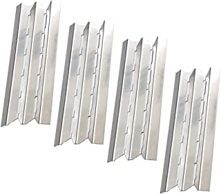 Htanch SN6021 (4-Pack) Stainless Steel Heat Plate Replacement for Gas Grill Models by Broil-Mate, Huntington, Broil King, Sterling, Rebel, Patriot, Baron and Others