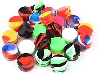 CEOKS 24pcs Non-Stick 5ml Silicone Container Jars Oil Wax Multi-Color Kitchen Storage Rubber Container (24)