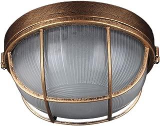 Retro Industrial Wall Light, Aluminum Bulkhead Round Outdoor Waterproof Lamp Light Nautical Marine Wall Lamp Industrial Vintage Light [Energy Class A++]