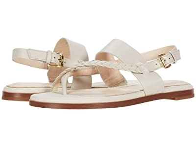 Cole Haan G.OS Anica Thong Sandal (Pumice Stone Leather Gold) Women