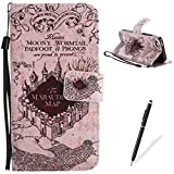 Feeltech iPhone 5/5S/SE Case,PU Leather Wallet Cover for iPhone 5/5S/SE