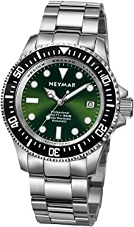 NEYMAR 44mm Men's 1000m Diver Japanese Automatic Sport Stainless Steel Watch
