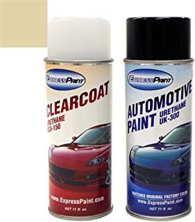 ExpressPaint Aerosol - Automotive Touch-up Paint for Nissan Altima - Polished Pewter Metallic Clearcoat KY2 - Color + Clearcoat Package