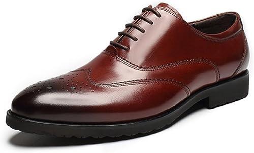 YIWANGO Printemps Bullock Hommes Chaussures Affaires Sculpté Pointu Chaussures Chaussures Hommes