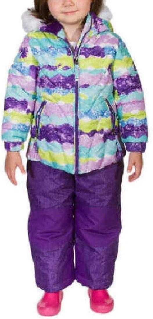 Weatherproof 32 Degrees Girls 2-Piece Jacket & Snow Bib Set, Purple Wave