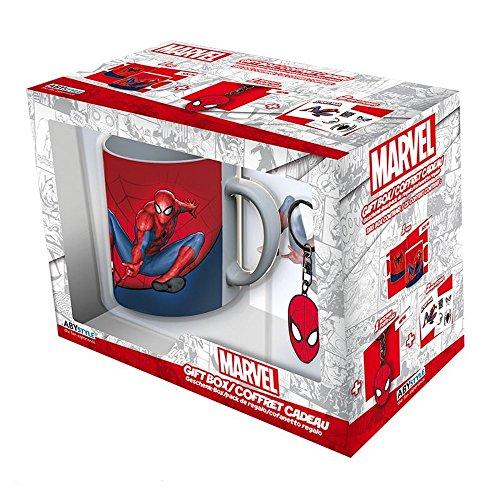 ABYstyle - MARVEL – Spider Man - Confezione di tazza320ml + portachiavi + 'Spider-man' sticker