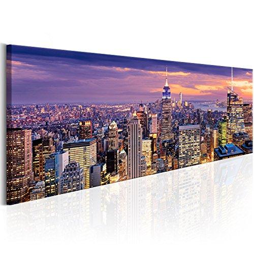 murando Handart Cuadro en Lienzo Nueva York City NY 150x50 cm 1 Pieza Cuadros Decoracion Salon Modernos Dormitorio Impresión Pintura Moderna Arte New York NY Ciudad City d-B-0068-b-c