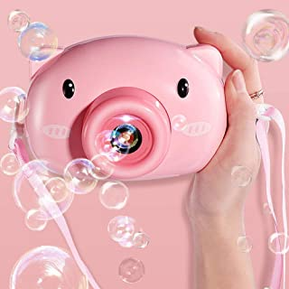 Bubble Machines Bubble Gun Maker Automatic Bubble Blower Camera for Kids, Summer Toy Party Favor, Birthday, Outdoor & Indo...