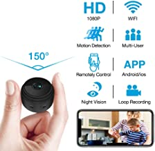 Hidden Camera WiFi Wireless HD 1080P Live Stream Mini Camera with Seven Level Motion Detection Sensitivity,Password Protection and Automatically Turn on/Off IR Light Function for iPhone/Android