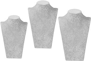 BCVBFGCXVB Parfait Noir Mannequin Collier Bijoux Velours Tissu Bijoux Pendentif Pr/ésentoir Titulaire D/écorer pour Affichage Ornement-Noir