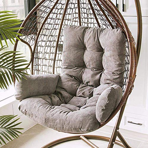 HUHUA Wicker Rattan Egg Hammock Chair Cushion, Outdoor Chair Cushions Round,Thick Nest Hanging Basket Chair Cushions for Backyard Balcony Garden Patio